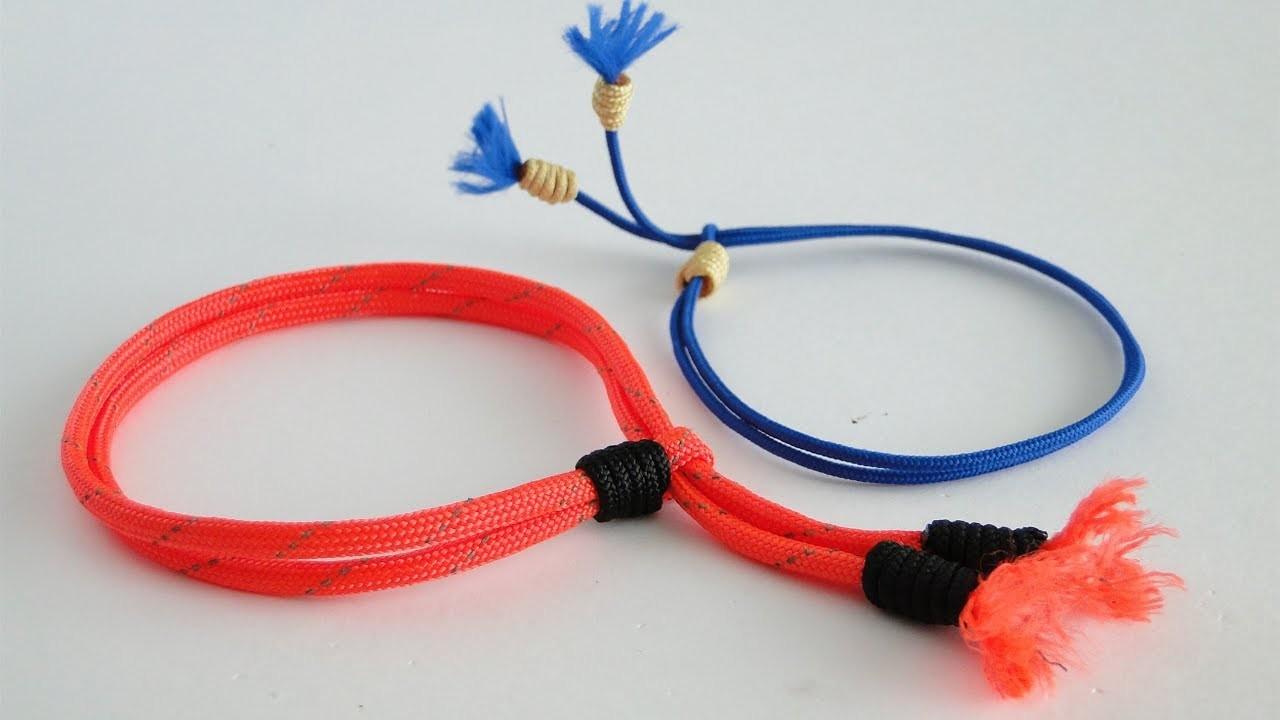 How to Make Adjustable Unisize Anklets-Ankle Summer Friendship Bracelet-DIY-Paracord Version