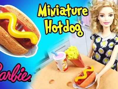 How to Make Barbie Doll Hotdog - DIY Easy Miniature Doll Crafts - Making Kids Toys