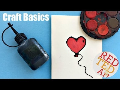 How to make Black Glue - Drawing with Glue - CRAFT BASICS