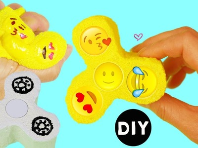 How to Make Emoji Fidget Spinner.Fidget Spinner Squishy DIY Tutorial