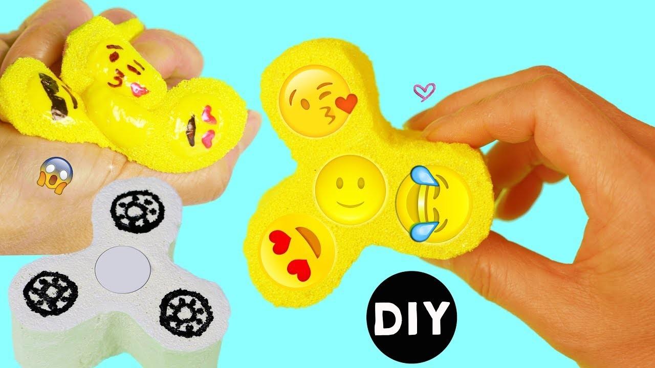 Emoji Squishy Tag : How to Make Emoji Fidget Spinner.Fidget Spinner Squishy DIY Tutorial