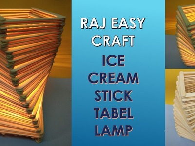 How to make Ice cream stick Lamp | Popsicle Stick Craft | DIY |