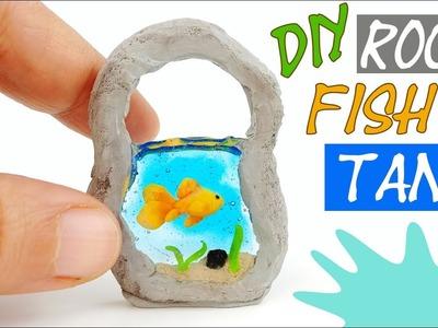 How to make miniature goldfish tank aquarium tutorial polymer clay resin diy craft