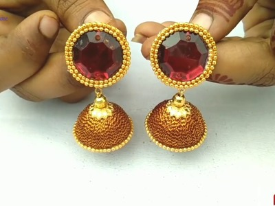 How To Make Silk Thread Earrings   Jewellery Making   DIY   +earring(earring)   diaries   pattern