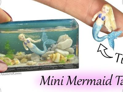 How to: Mini Mermaid Aquarium. Fish Tank - Resin & Polymer Clay Craft Tutorial