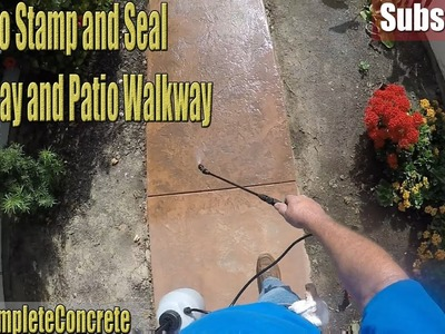 How to Stamp & Seal Colored Concrete Driveway and Patio Walkway (DIY)