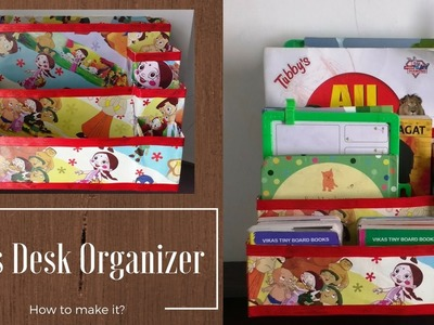 Kids Desk Organizer | Cereal Box Multipurpose Organizer | Recycled Crafts
