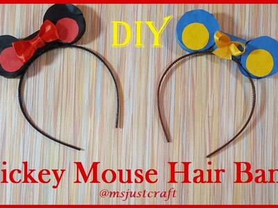 Mickey Mouse Hair Band | 5 minute craft | msjustcraft | DIY