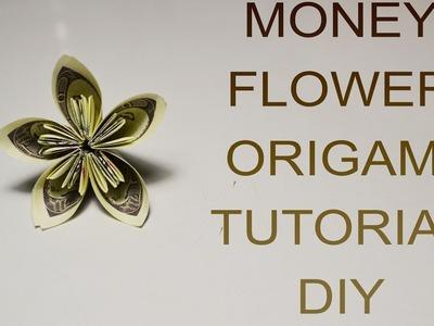 Money Flower Origami Tutorial Dollars DIY Gift Bill Paper