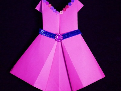 Origami dress: How To Make Origami Dresses For Barbie - craft tutorial