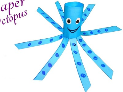 Paper Animals Crafts for Kids | A Simple Octopus Craft for Preschool