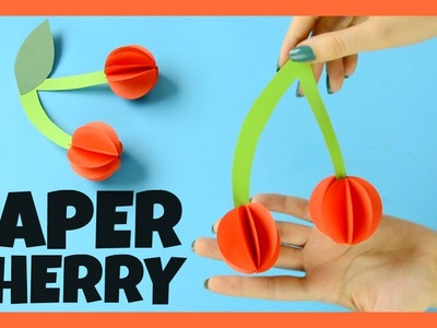 Paper Cherry Craft for Kids - fun paper craft idea for kids