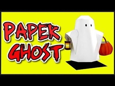 Paper Craft-DIY for Kids | How to Make a Ghost Halloween Craft for Children-Easy Origami Tutorials