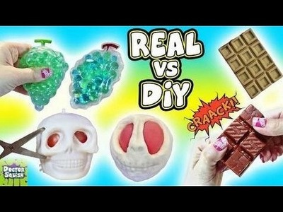 Real VS DIY Squishy Toys! Cutting Open Creepy SKULL Squishy! Homemade Squishy Toys Doctor Squish