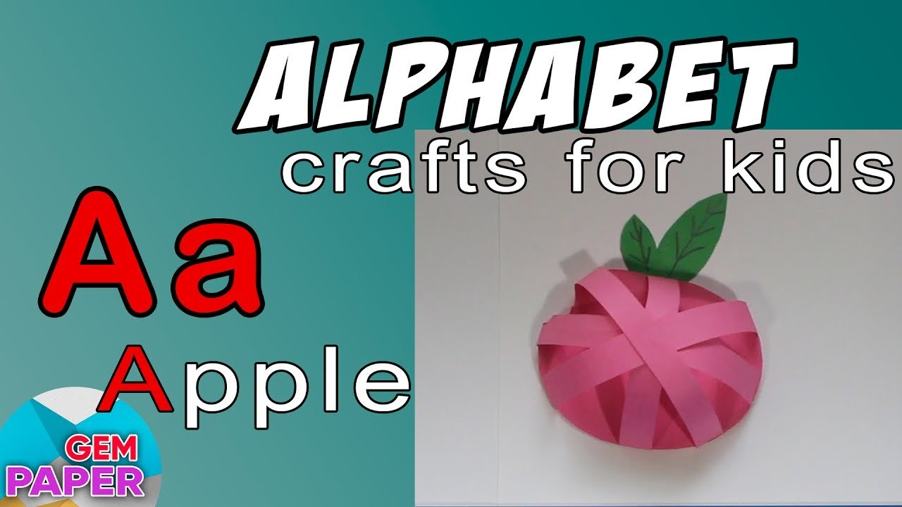 letter activity simple craft for paper apple alphabet letter a 5194