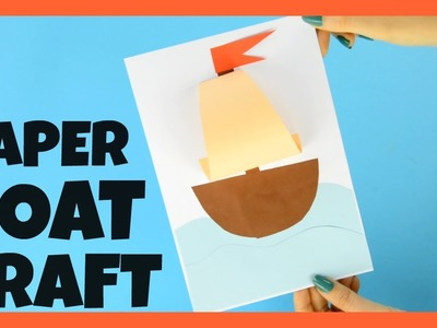 Simple Paper Boat Craft for Kids - Summer craft idea