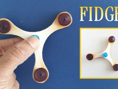 Slim Fidget Spinner without Bearing - Handmade | DIY Tutorial by Paper Folds - 711