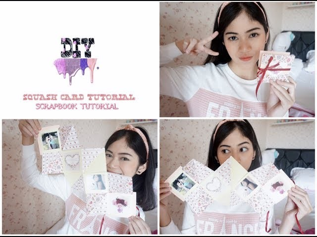 SQUASH CARD TUTORIAL || DIY SCRAPBOOK TUTORIAL || by fianiadila