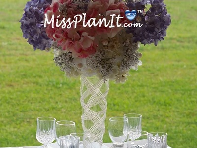 Tall Wedding Centerpiece.DIY. How to Create this  Breath of Fresh Air Flower  Wedding Centerpiece!