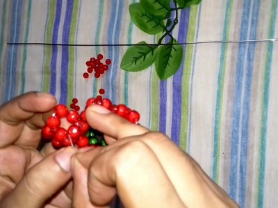পুতি দিয়ে জবাফুল.How to make beaded flower.Dry craft beaded