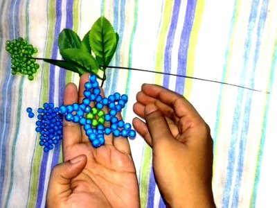 পুতির বনলতা ফুল.How to make beaded flower.Dry craft beaded