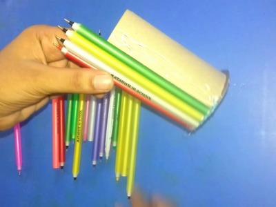 পুরাতন কলম দিয়ে কলমদানি তৈরি.How to make pen holder.Diy craft