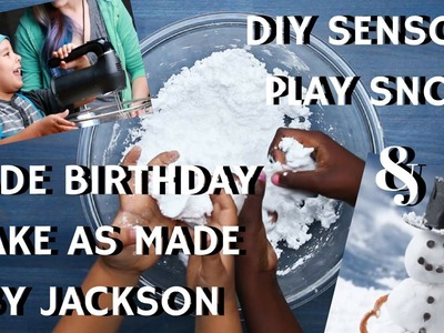 TOP KIDS ACTIVITY AND FOOD BY TASTY JUNIOR-DIY SENSORY PLAY SNOW-BIRTHDAY CAKE BY JACKSON