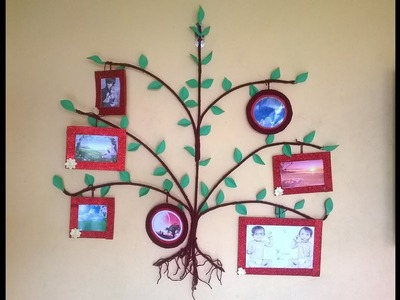 Tree Photo frame || DIY || How to make big photo frame at home || Wall Decoration
