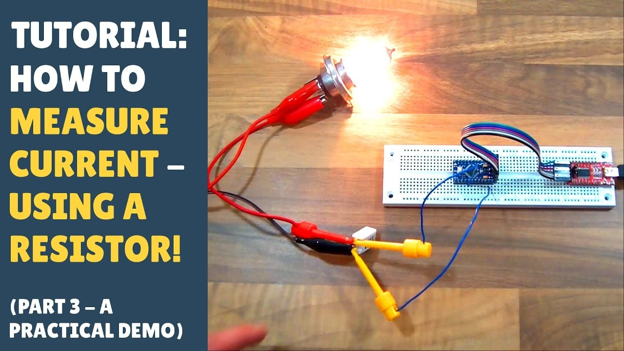 TUTORIAL: How to Measure Current Into Arduino (Microcontroller) Using a DIY Shunt Resistor (Part 3)