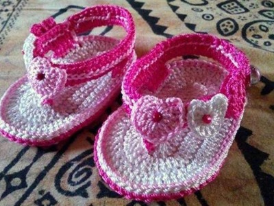 Adorable and FREE Crochet Baby Sandals Patterns