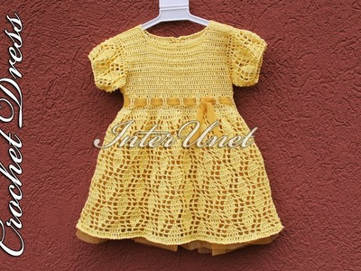 Baby dress crochet pattern – learn how to crochet a dress for a child.