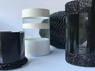 BLACK AND WHITE CENTERPIECE IDEA   CANDLE HOLDER DIY