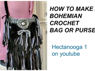 BOHEMIAN FRINGED BAG, Free crochet pattern, CROCHET BAG TUTORIAL