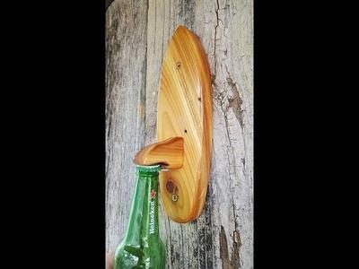 Canipe's Wood Shop- Making a cedar Surfboard Bottle Opener