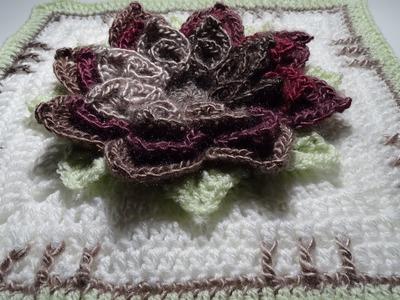 Crochet 3D Flower Square nr:1