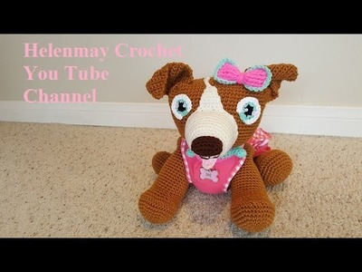 Crochet Amigurumi Pitbull Dog Addendum Part 1 of 2 DIY Video Tutorial