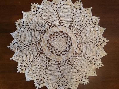 Crochet Doily - Rounded Windsor Doily Part 1