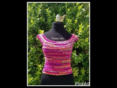 Crochet summer top. Blusa a crochet