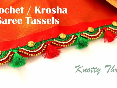 Crochet Tassels | Making of Crochet Saree Tassels | Elegant Bridal Design | knottythreadz.com