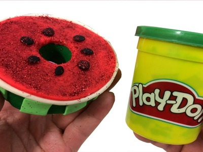 DIY Creative How To Make Watermelon Donuts with Play Doh Fun Review for Kids