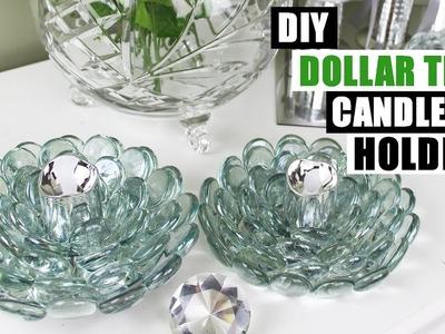 DIY DOLLAR TREE GLAM CANDLE HOLDERS Dollar Store DIY Candle Holders DIY Dollar Tree Glam Home Decor