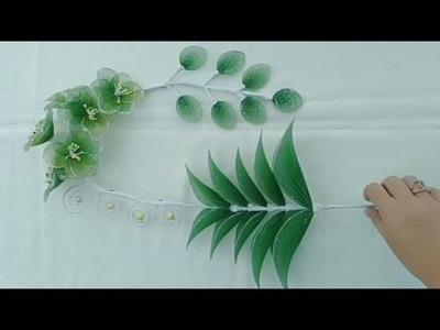 DIY how to make stocking flower wall hangings - Tutorial