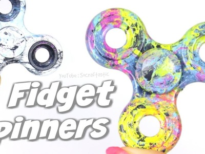 DIY HYDRO DIPPING FIDGET SPINNERS - Water Marble a Hand Spinner How To - SoCraftastic