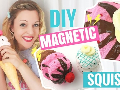 ????DIY Ice Cream Cone SQUISHY Tutorial!-Magnetic Scoops and Toppings!