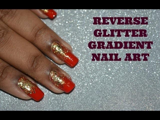 DIY NAIL ART, REVERSE GLITTER GRADIENT NAIL ART TUTORIAL ...