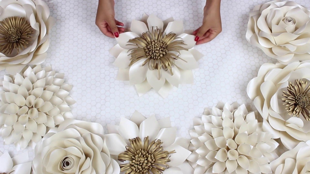 DIY Paper Flower Tutorial, My Wedding Backdrop Flowers ...
