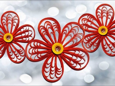 DIY Paper Quilling Flowers : How to make Quilling Flower -Paper Art Quilling.