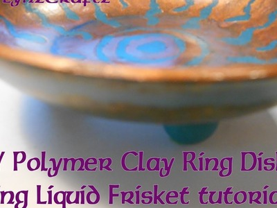 DIY Polymer Clay Ring Dish Using Liquid Frisket tutorial