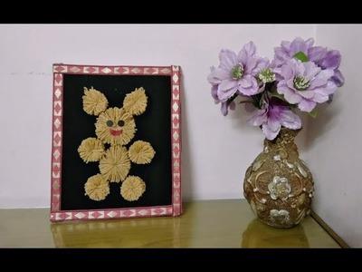 DIY Wall Decor Teddybear || DIY How to make woolen Teddy bear wall hanging || woolen craft