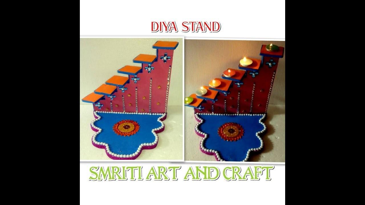 Diya stand how to make diya stand diy diya stand for Art and craft diya decoration
